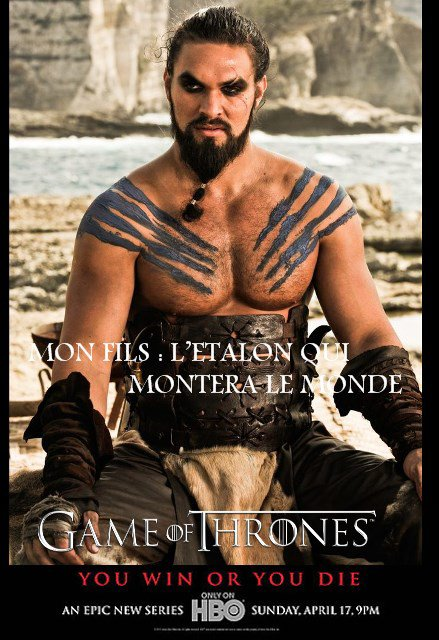 53. KHAL DROGO - Personnage Game of thrones - Saison 1