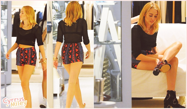 . 23.07.2012 • Mil a été vu faisant du shopping à New York ! On ne sait pas encore pourquoi elle est a NY ..  .