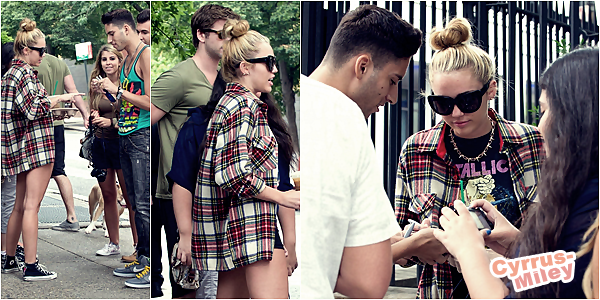 . 29.07.2012 •  Miley et son fiancé Liam promenaient Ziggy dans les rues de Philadelphie.   .