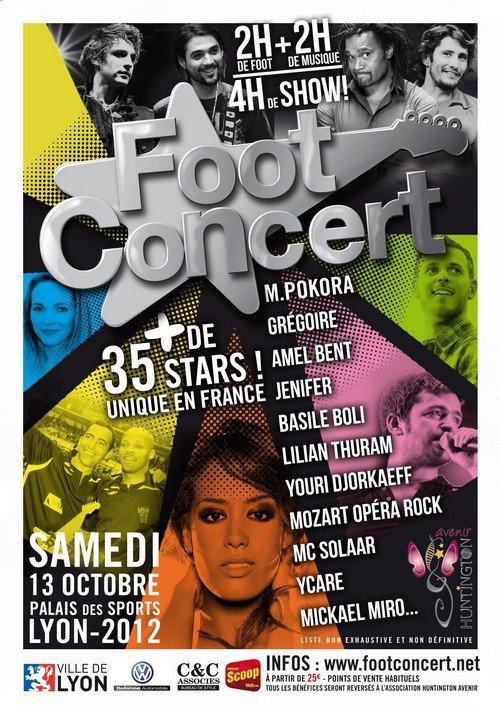Foot-concert à Lyon + News Twitter + hommage à Michel Berger.