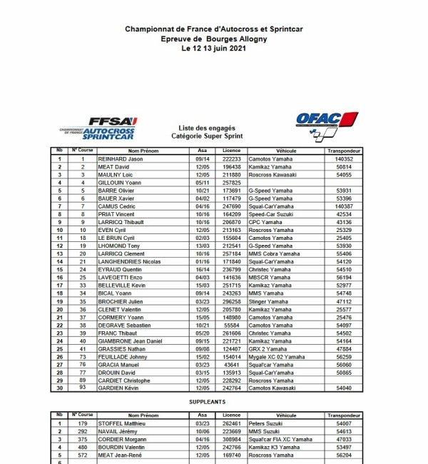 2021: Autocross et Sprintcar d'ALLOGNY