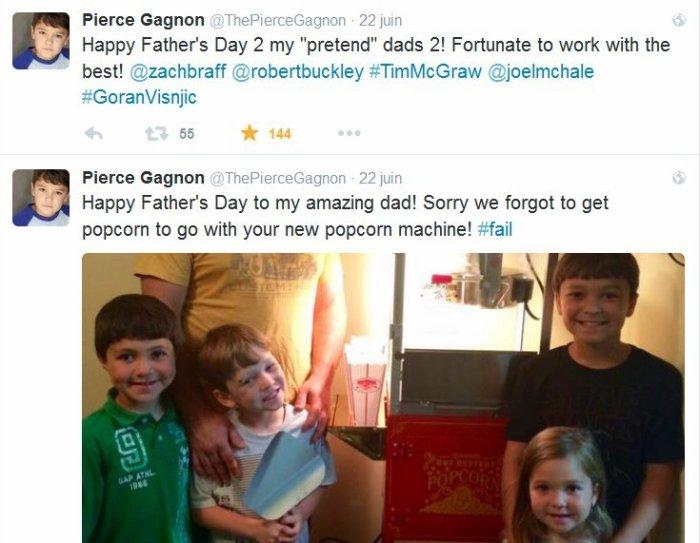 Un deuxième Papa pour Pierce Gagnon ...