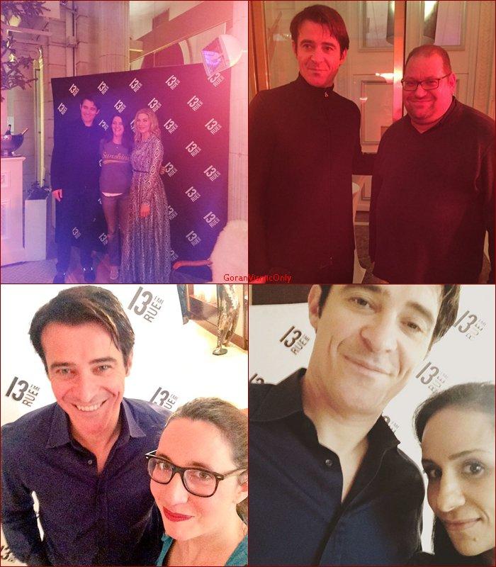 Goran à Paris pour Crossing Lines , photos twitter avec les fans