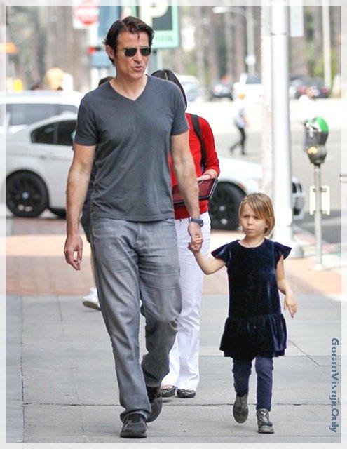 Goran à LA avec sa fille