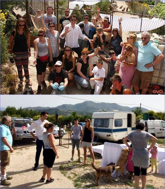 Photos avec le personnel du site à Dubrovnik