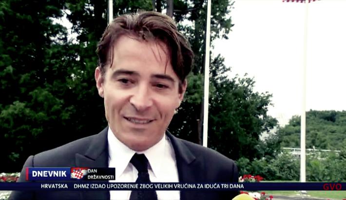 Goran à une réception présidentielle en Croatie