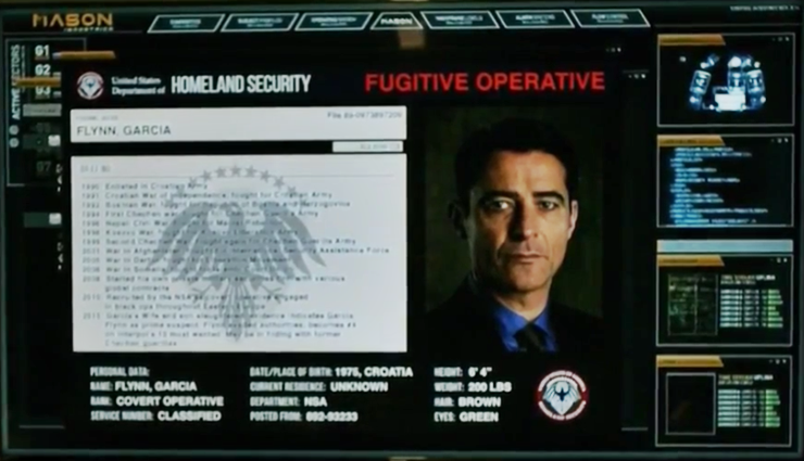 Garcia Flynn dans le pilote de Timeless