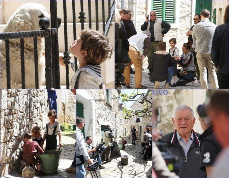 photos de tournage  pour le film General à Pirovac