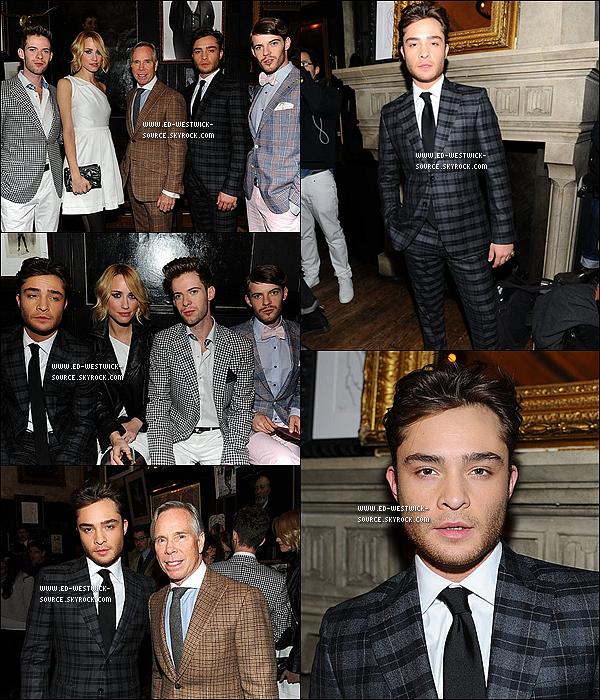 . 11/02/11 : Ed au défilé du couturier Tommy Hilfiger pour la collection Hommes 2011. _Top ou Flop? .