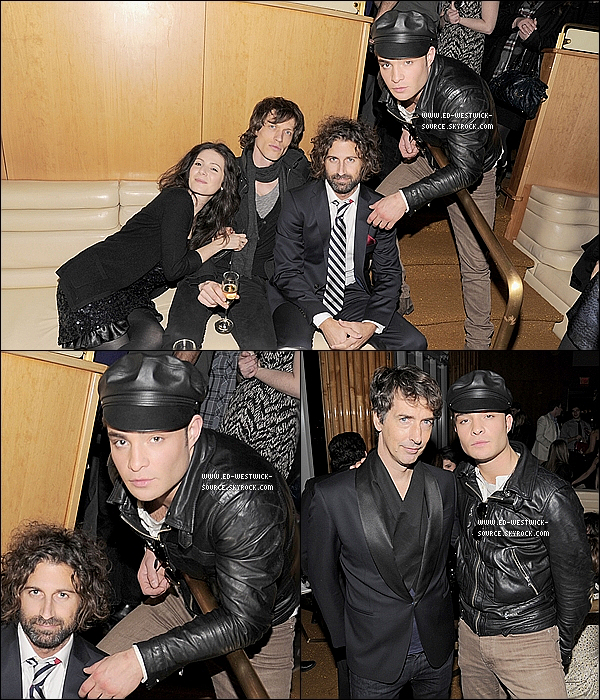 . 02/03/11 : Ed était à l'after party de la soirée «Happy Thank You More Please» au Standard Hotel à New York. PHOTOCALL : 1st partie du shoot «Powder Girl» promouvant Chalet Girl.   .