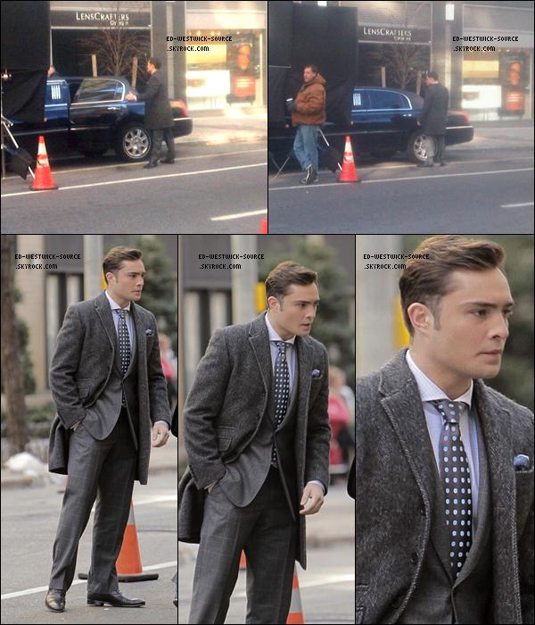 .   05 janv. : Ed, comme toujours, sur le tournage de Gossip Girl dans Manhattan. .