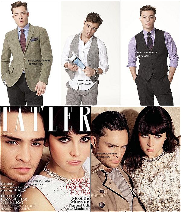 . Des nouvelles photos d'Ed Westwick pour la campagne de Nokia sont sorties, photos datant de 2010.  +- Ed en couverture du magazine Tatler avec Felicity Jones pour mars 2011. ------- Tu aimes les photos?  .
