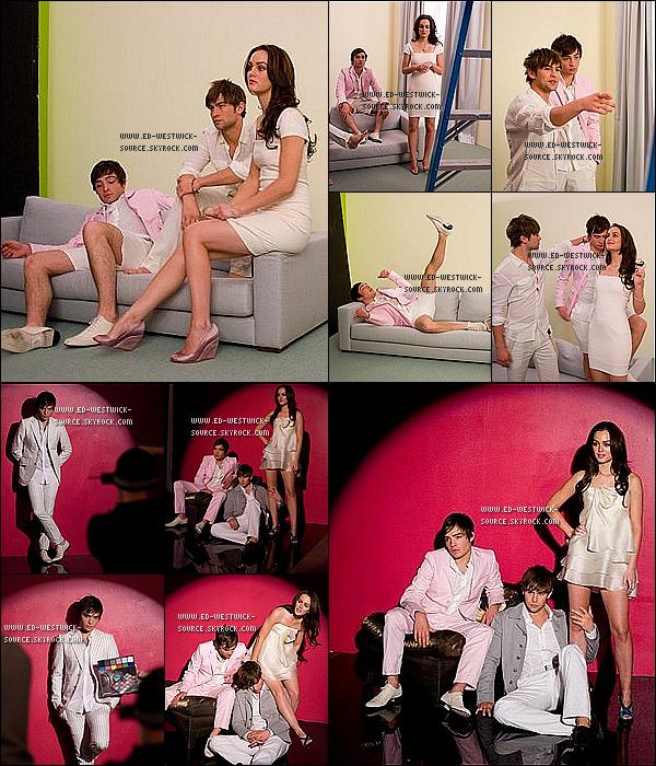 / Voici le «BEHIND THE SCENE» d'un shoot promotionnel pour Gossip Girl tourné en 2008. ► On peut y voir Chace Crawford et Leighton Meester, les deux co-stars de Ed. /