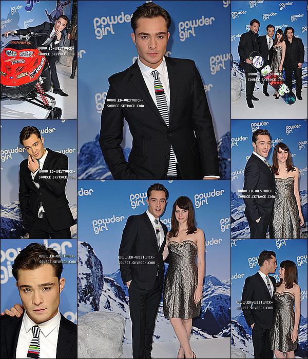 .  EVENT___ 04/03/11 : Ed était à la première du film Chalet Girl en Allemagne au Matheaser Filmpalast à Munich. TOP/FLOP sa tenue ?   .