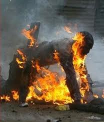 Mort par brûlures d'un quadragénaire