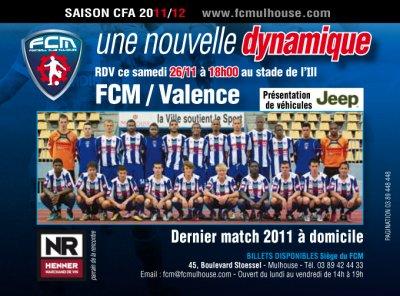 Mulhouse - Valence  le 26 / 11 / 2011 à 18h00
