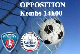 Opposition samedi 14h00 à Kembs sur synthétique entre le FCM et le FC St louis