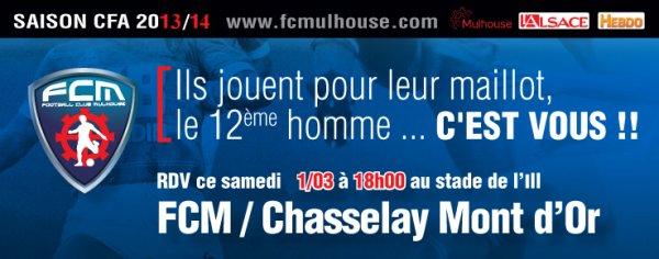 ardue : réception de Chasselay au stade de l'Ill à 18h
