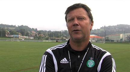 vant match ASSE - FCM: Interview du coach vert