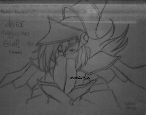 Ma dernière reproduction =) ! Dark Magician Girl (huuuummmm huuummmm *àlaHomerSimpson*) Je l'ai fait rapidement,donc  si il est pas parfait,normal =)