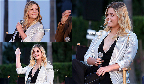 15 / 06 / 16 :Sashaavec le cast de PLL ont été à l'avanet premiere de PLL pour la saison 7 à LA. Sashatrès souriante & adorable. Elle a eu le droit à répondre aux interviews avec ses collègues de la série. Je la trouve très jolie,TOP !