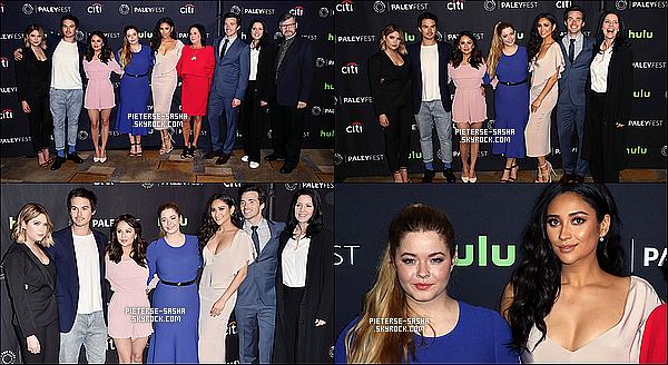 25 / 03 / 17 :Sasha & le cast de PLL ont été à l'événement de Paley Fast à Los Angeles. Sashatoute contente, a été très belle avec sa robe bleu. Je trouve qu'elle a de belle formes et sa coupe lui va très bien ! Au top.