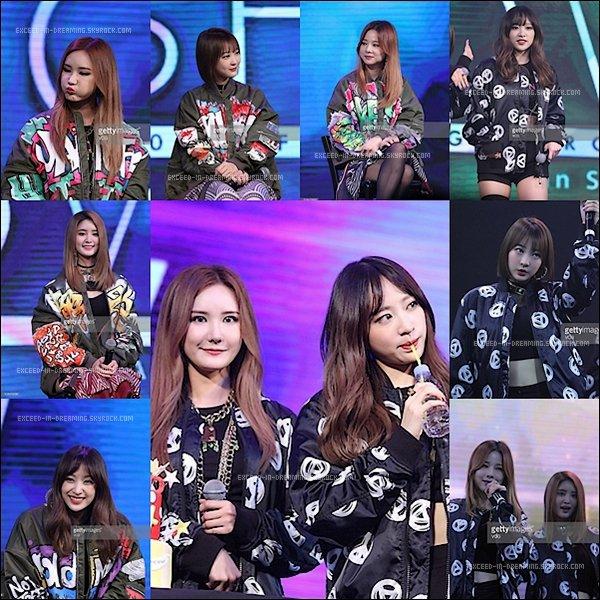 -- 18/03/16: Le groupe sud coréen EXD était en visite à Shanghai toute réuni sur scène --