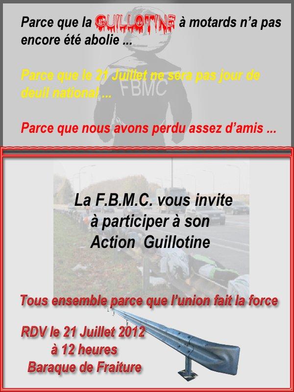 "Action ""Guillotine"" ce 21 juillet"