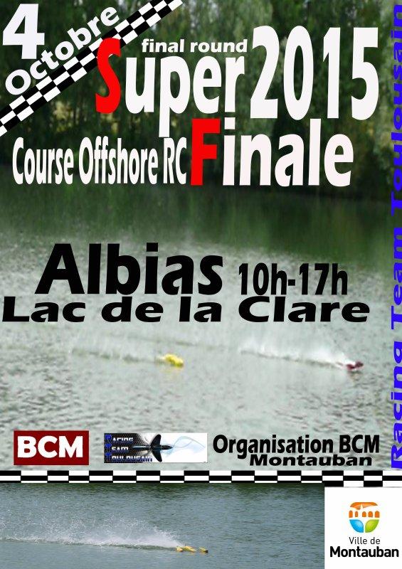 Affiche Super Finale Albias 4 octobre 2015