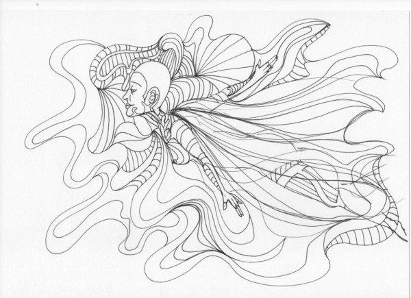 Femme Papillon #01