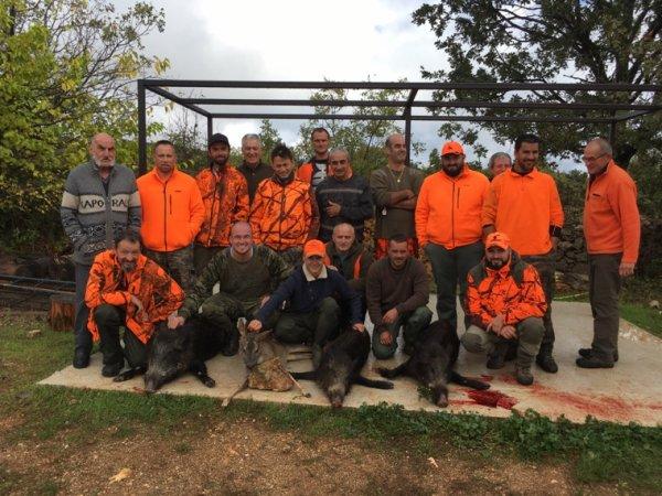 20éme battue à Viols le fort chez les gaulois :3 sangliers et 1 chevreuil