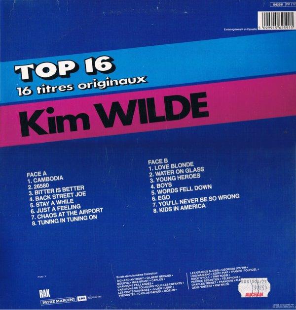 Kim Wilde - Top 16 - 16 titres originaux