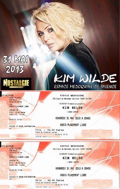Kim Wilde Concert Espace Medoquine de Talence