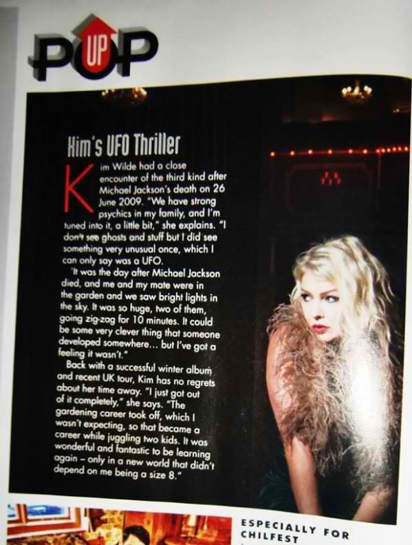 8 Février 2014: Classic Pop Magazine N° 9 avec Kim Wilde