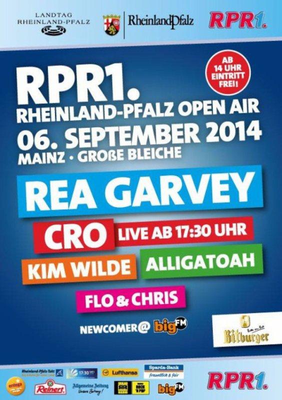 06 Septembre 2014: RPR1 Rheinland-Pfatz Open Air