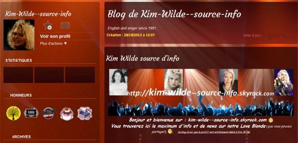29 Octobre 2013: Lancement de kim wilde source info