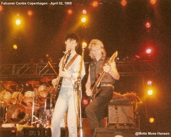 2 avril 1985: Rage to rock tour