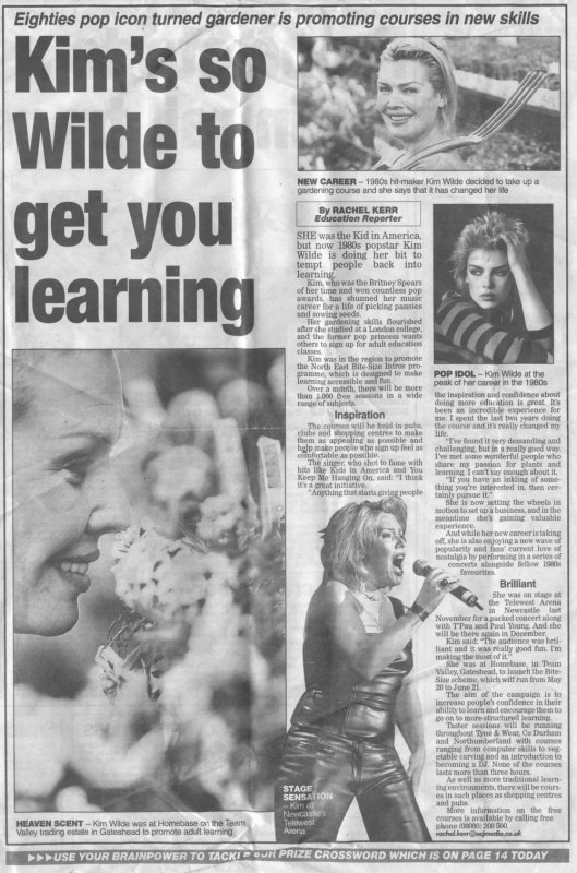 11 mai 2002: Kim's so Wilde to get you learning