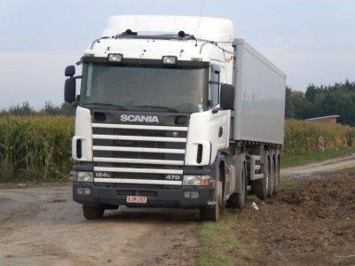 Scania R470 et benne 3 essieux