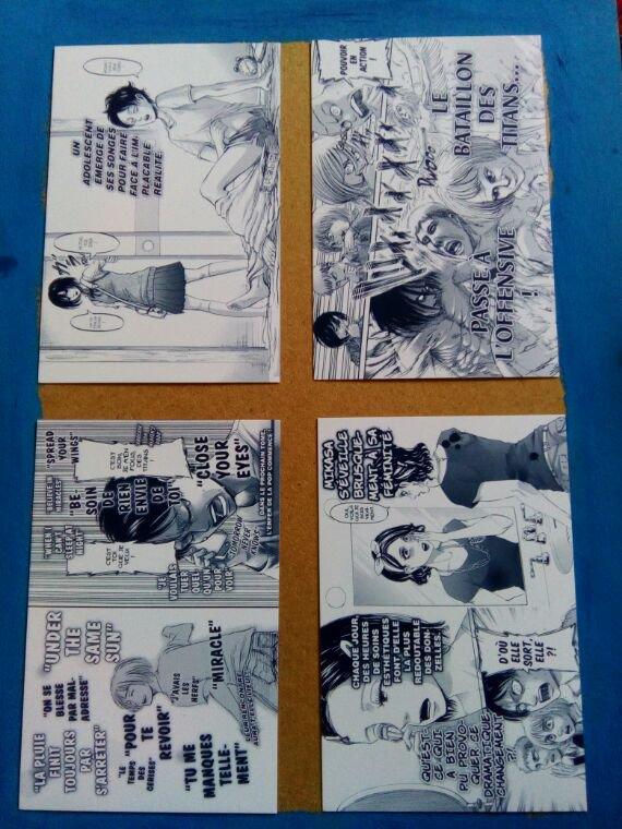 Cartes postales SnK 2eme partie