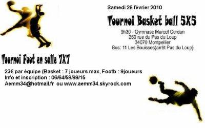 soiré plus journée sportive à Montpellier pour le 26février 2011