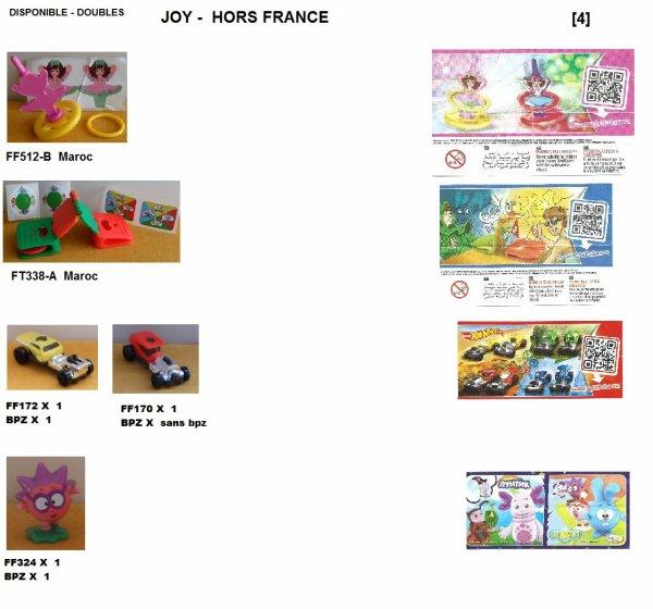 DOUBLES INDIVIDUELLE JOY  FF. 2014-2015