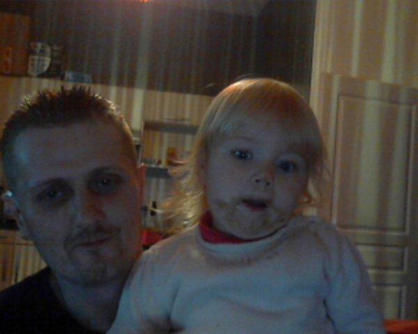 moi et ma niece ces bon les kinder 1tonton