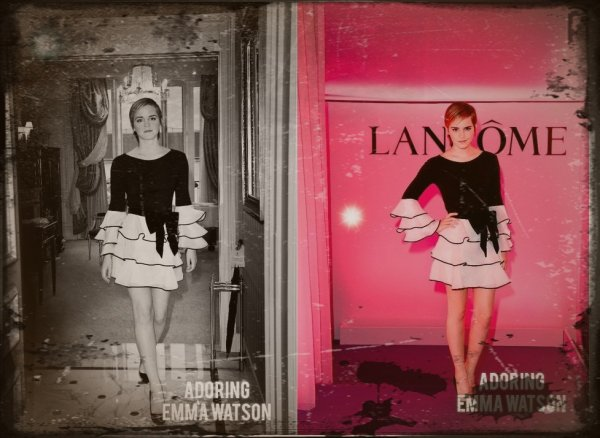 Photos de Emma qui est l 'effigie de la marque LANCOME