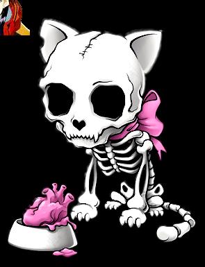 Render Chaton skelette