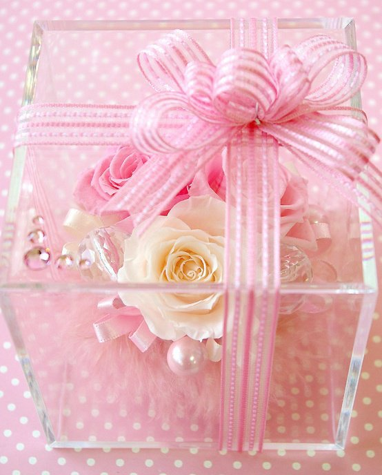 Boite rose pastel