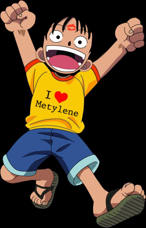 Luffy tee shirt i love Metylene