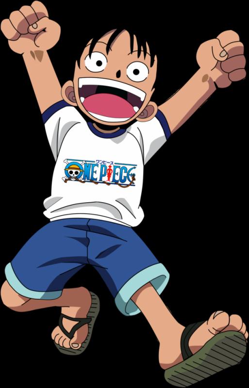 Luffy tee shirt blanc avec le logo One Piece