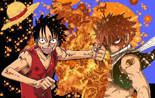 Renders Luffy Et Natsu Sans les Logos des animes