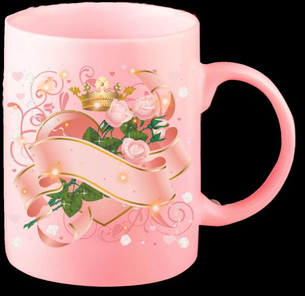 Render mug rose pour fille
